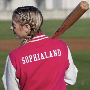 Felpa Sophialand (fucsia/bianco)